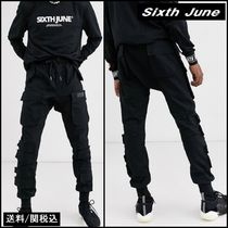 【Sixth June】wide cuffed utility pant ロングサイズ ブラック