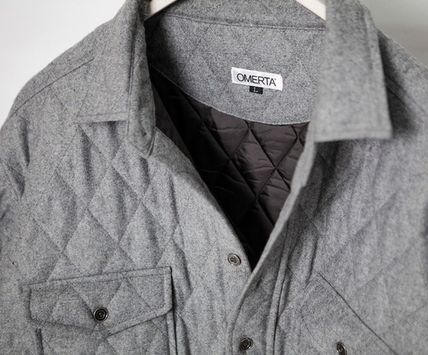 ジャケットその他 Omerta_Grey Wide Quilted Shirts(5)