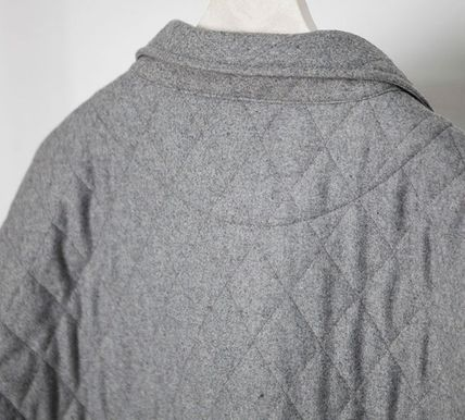 ジャケットその他 Omerta_Grey Wide Quilted Shirts(6)