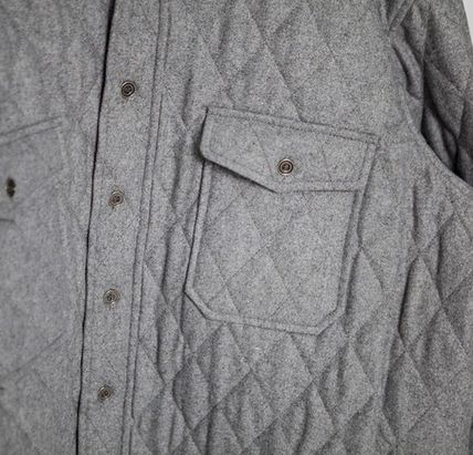 ジャケットその他 Omerta_Grey Wide Quilted Shirts(7)