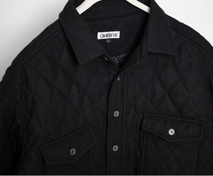 ジャケットその他 Omerta_Black  Wide Quilted Shirts(4)