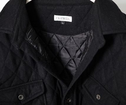 ジャケットその他 Omerta_Black  Wide Quilted Shirts(5)