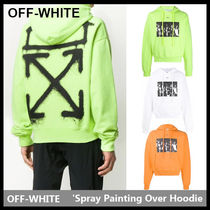 【Off-White】Spray Painting Over Hoodie OMBB037R20E30015