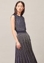 Tory Burch PLEATED SWEATER DRESS