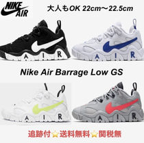 大人もOK ★Nike Air Barrage Low GS 22cm〜25.5cm追跡付/関税無