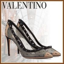 【海外VALENTINO】DECOLLETE ROCKSTUD IN PIZZO パンプス 8.5cm
