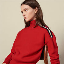 sandro サンドロ HIGH NECK SWEATER WITH PRESSセーター