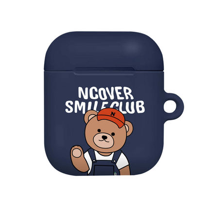 ncover スマホケース・テックアクセサリー NCOVER Overall pants bruin AirPods Hard Case BBM721 追跡付(4)