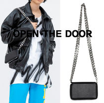 OPEN THE DOOR leather mini chain bag (2 color)