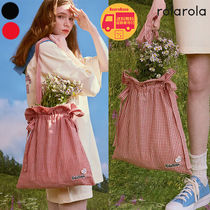 ROLAROLA CHECK RIBBON ECO BAG BBN678 追跡付