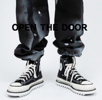 OPEN THE DOOR add platform canvas shoes