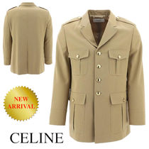 CELINE military jacket in wool gabardine