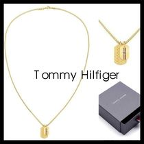 【Tommy Hilfiger】ゴールド Double Dog Tag Necklace 2790211
