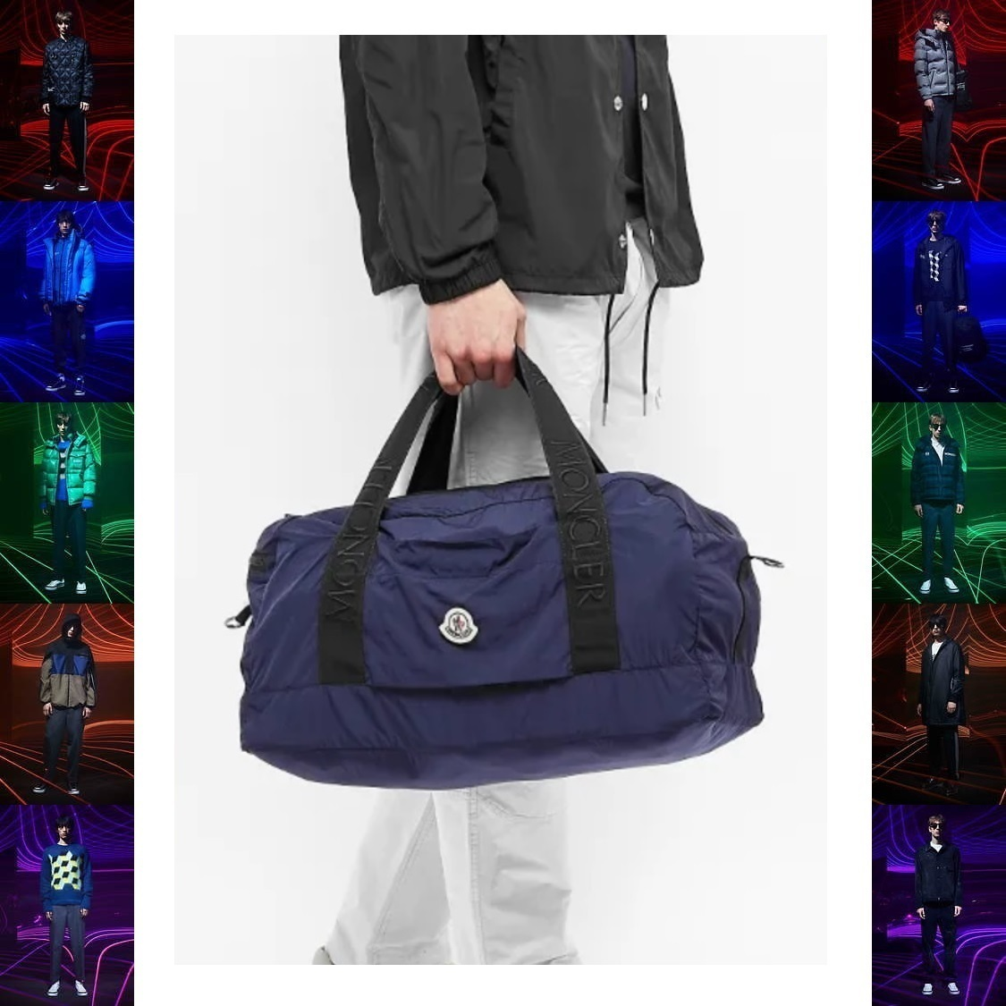 20SS 新作 MONCLER ロゴ ナイロン 2way ナイロン バッグ 紺 (MONCLER/ボストンバッグ) 52114429