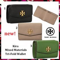 セール 新作 Tory Burch Kira Mixed-Materials Tri Fold Wallet