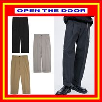 [OPEN THE DOOR] straight-fit cuffed pants  / 男女兼用/追跡付