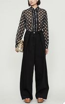 20SS★Dries Van Noten★Pleated wide-leg high-rise jeans