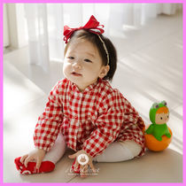 【ArimCloset】red check baby cotton bodysuit〜ロンパース