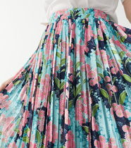 """& Other Stories"" Pleated Midi Skirt Floral"