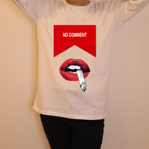 JAPAN LIMITED ★NO COMMENT PARIS★ ロンT red smoke