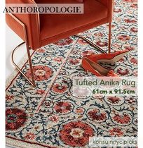 おしゃれな ANTHROPOLOGIE*Tufted Anika Rug 61cm x 91.5cm
