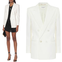 WSL1672 DOUBLE BREASTED WOOL TWILL JACKET
