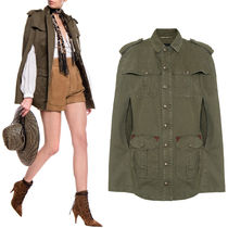WSL1673 COTTON & RAMIE MILITARY CAPE