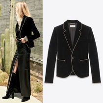 WSL1676 LOOK10 VELVET JACKET WITH WOVEN METALLIC PIPING