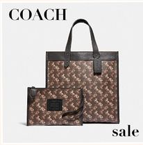 日本未発売【COACH】FIELD TOTE WITH HORSE AND CARRIAGE PRINT