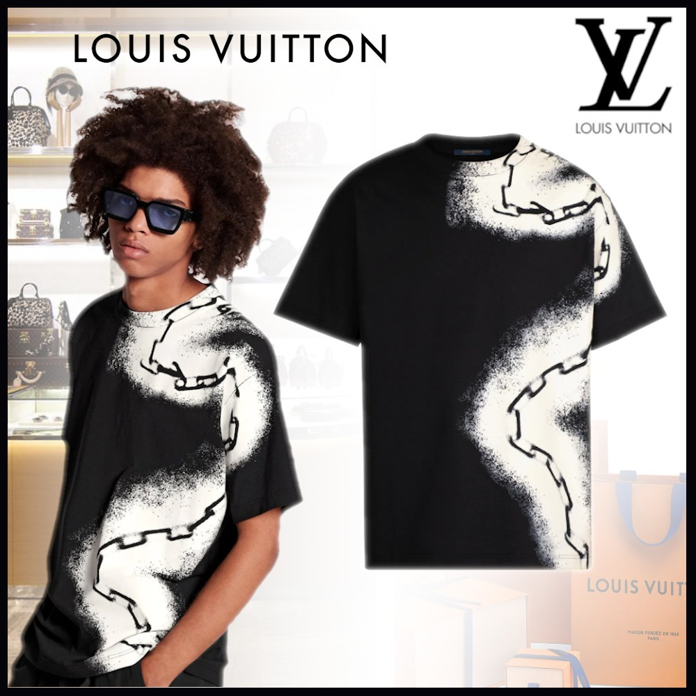 20SS★LV Tシャツウィズスプレーチェーンプリント 直営店 (Louis Vuitton/Tシャツ・カットソー) 1A5VSR  1A5VSS  1A5VST