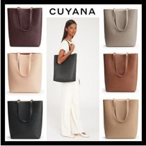(13527)CUYANA☆Tall Structured レザー トートバッグ
