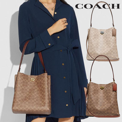 【20SS】COACH★Charlie Bucket Bag In SignatureCanvasA4サイズ
