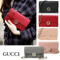 ☆関税負担なし☆Gucci Interlocking Chain Leather Cross Bag