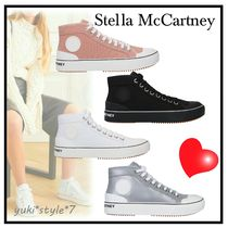 関税送料込☆Stella McCartney☆canvas high-top trainers