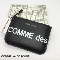 Comme Des Garcons Wallet ロゴプリント ポーチ型 財布 S 黒