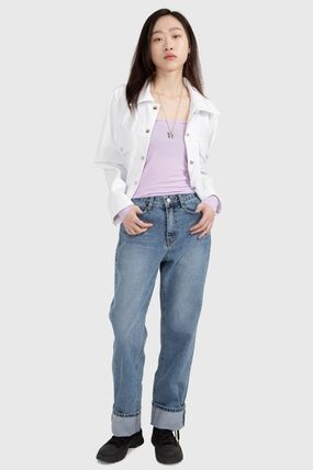 Raucohouse デニム・ジーパン 大人気★Raucohouse☆ROLL-UP WIDE DENIM PANTS(2)