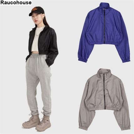 Raucohouse アウターその他 韓国ブランド★Raucohouse★NYLON CROP HIGH-NECK JUMPER