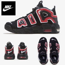 NIKE Air More Uptempo GS★モアテン 黒 赤 クリムゾン 未発売