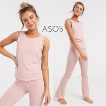 *ASOS*ワッフルパジャマセット/pink【送料*関税込】