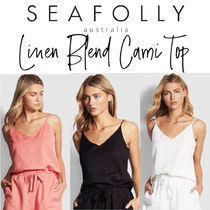 【SEAFOLLY】Linen Blend Cami Top リネンキャミトップ