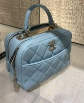 """★2020 ACT.2 CHANEL★TRENDY CC"""" BOWLING BAG in blue"""