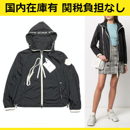MONCLER アウターその他 関送込 MONCLER POMME 刺しゅう ロゴ ナイロンジャケット