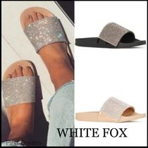 送料込☆WHITE FOX*Raye Diamante Slides サンダル*2色