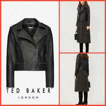 TED BAKER【関税込み】レザーバイカージャケット c155