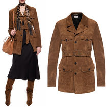 WSL1707 SAFARI JACKET IN SUEDE LEATHER