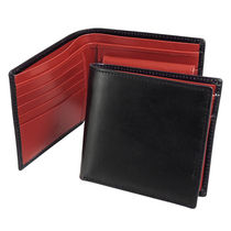 WHITEHOUSE COX 二つ折り財布 COIN WALLET S7532 BLACK/RED