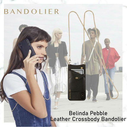 Bandolier スマホケース・テックアクセサリー NEW!!Belinda Pebble Leather Crossbody Bandolier