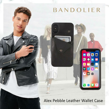 Bandolier スマホケース・テックアクセサリー NEW!!Alex Pebble Leather Wallet Case (no D-rings)