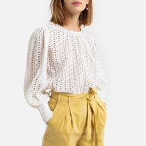 La Redoute Broderie Anglaise Blouse with Long Sleeves