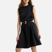 La Redoute Short Sleeveless Dress with Lace Details